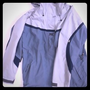 Helly Hansen blue & grey jacket SIZE LARGE